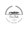 car club logotype vector image