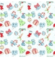 christmas holiday pattern vector image