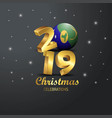 christmas island flag 2019 merry christmas vector image