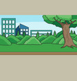 city park background children book vector image vector image