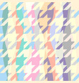 classic hounds-tooth pattern in a patchwork vector image vector image
