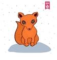Cute red fox vector image vector image