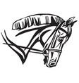 decorative portrait of horse in profile 3 vector image vector image