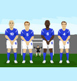defensive soccer wall free kick vector image vector image