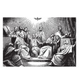 descent of the holy spirit on the apostles vector image vector image