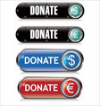 donate support button vector image