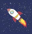 doodle rocket in space vector image