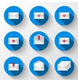 Email icons set vector image vector image