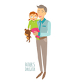 Fathers daughter vector image vector image