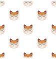 fox muzzle icon in cartoon style isolated on white vector image vector image