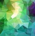 fresh spring blue green polygon triangular vector image vector image