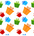 gift box present packs christmas or birthday flat vector image