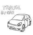 Hand drawn transport set Car vector image