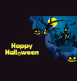 happy halloween poster template paper cut vector image