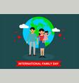 happy international family day logo vector image