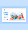 happy loving family on picnic outdoors in park vector image