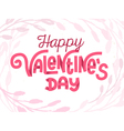 happy valentines day tender greeting card vector image