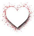 heart shape background with red hearts vector image
