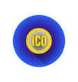 initial coin offering symbol icon vector image vector image