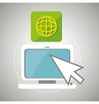 laptop arrow app icon vector image vector image