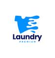 laundry tee water splash t shirt logo icon vector image