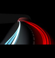 long exposure vehicles light trails on freeway vector image vector image