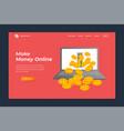 make money online banner landing page background vector image
