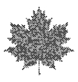 Maple leaf isolated halftone design Background vector image vector image