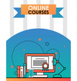 online education course flat vector image vector image