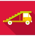 Passenger gangway icon flat style vector image vector image