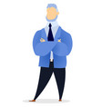 professional worker man with crossing hands vector image vector image