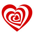 psychedelic heart icon simple style vector image