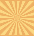 retro sun rays background in orange color vector image vector image