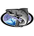 salmon mascot vector image