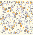 seamless winter floral pattern flat christmas vector image