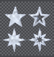set christmas silver stars luxury and glamour vector image