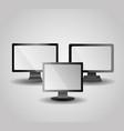 set monitors computer media technologies gadget vector image