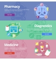 Set of flat design concepts for pharmacy vector image