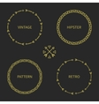 Set of gold hand drawn ethnic arrows frame vector image vector image