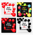 set of mobile sale banners with shiny balloons vector image