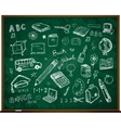 set of school doodle s vector image vector image