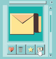 social media marketing with envelope vector image