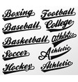 sport swooshes set for athletic typography t-shirt vector image
