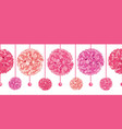 srt of dangling pink birthday party paper vector image vector image