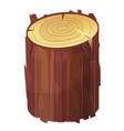 stump brown cut icon rough timber material vector image vector image