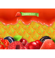 Sweet berry background vector image