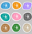 Tennis player symbols Multicolored paper stickers vector image vector image