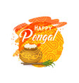 thai pongal greeting card vector image vector image