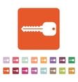 The key icon Key symbol Flat vector image vector image