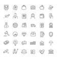 Thin line web icon set - money payments